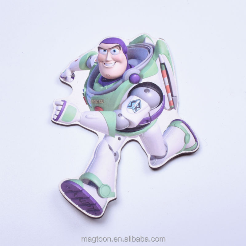 factory made cheap lovely Buzz Lightyear design flat paper fridge magnets