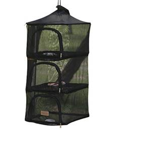Get Quotations · Wealers 3 Layer Foldable Camping Kitchen Hanging Dry Net  for Food Dishes or Clothing Great for 777498852f07b