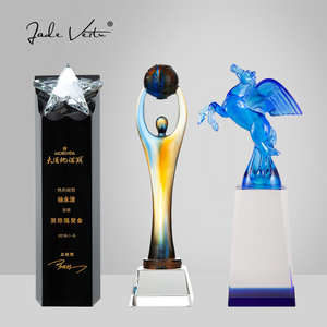 Handmade original crystal award trophy for awards ceremony