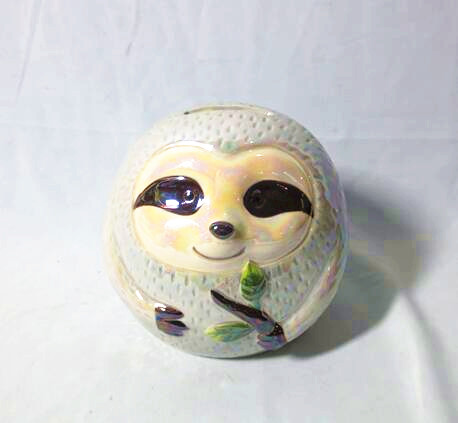 China Ceramic Cute Cartoon Sloth Piggy Bank Sloth Coin Banks Manufacturer And Factory Joinste
