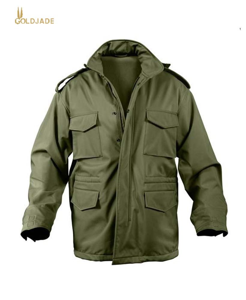 Veste de champ m65 avec doublure matelassé manteau militaire vintage armée combat pour homme beiges