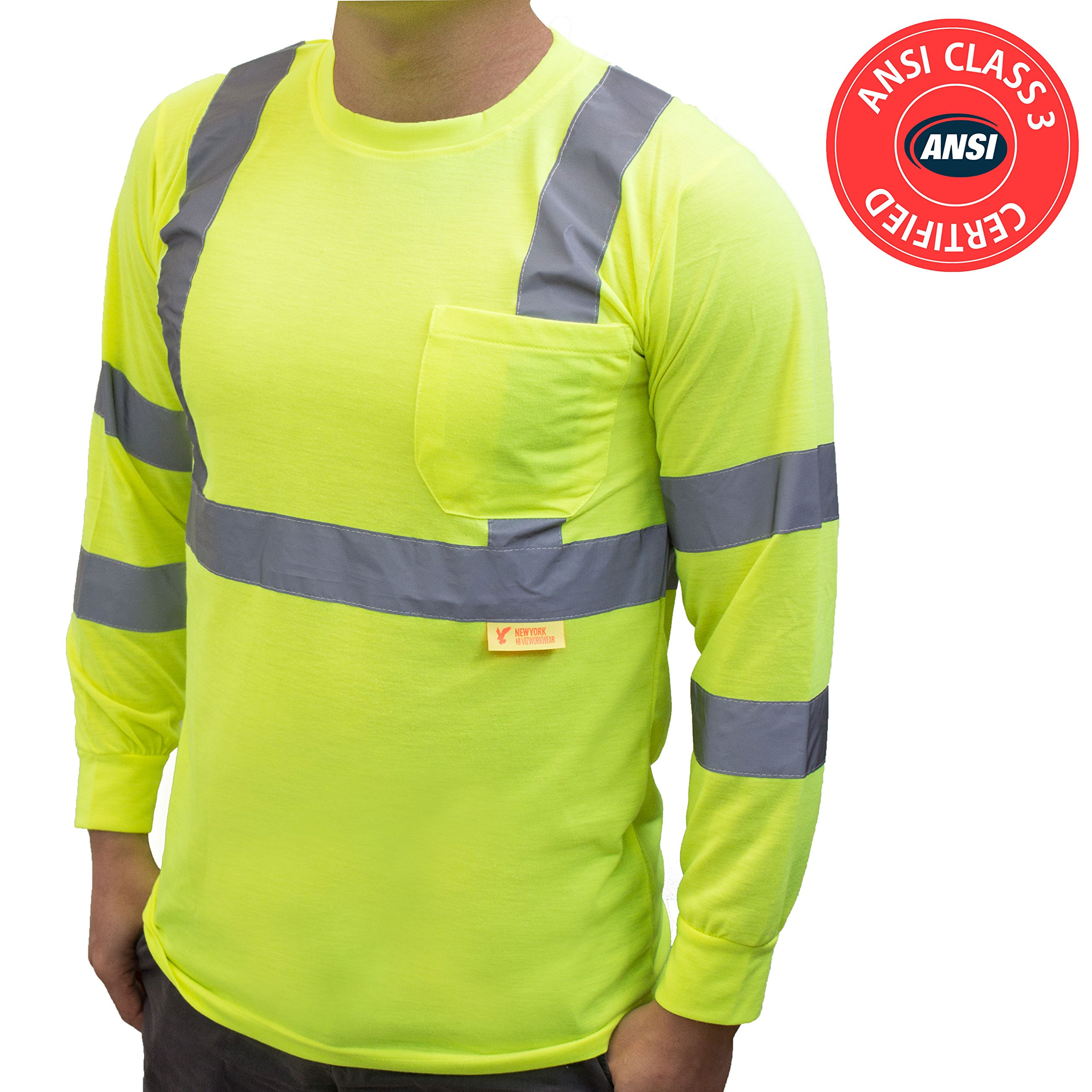 Buy Ny Hi Viz Workwear L9092 Class 3 High Vis Reflective Long Sleeve