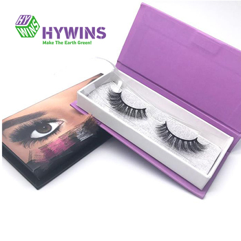 Recycle Custom Color Printed Cardboard Paper Eyelash Packaging Box
