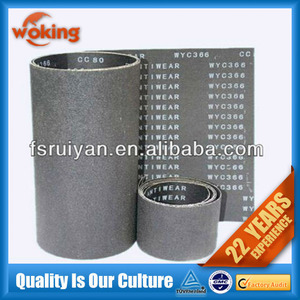 WYC366 Silicon carbide waterproof emery cloth belt for wood,stone,metal