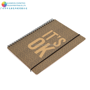 High quality spiral binding hard cover a5 Notebook