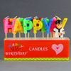 beautiful letter shaped happy birthday candles