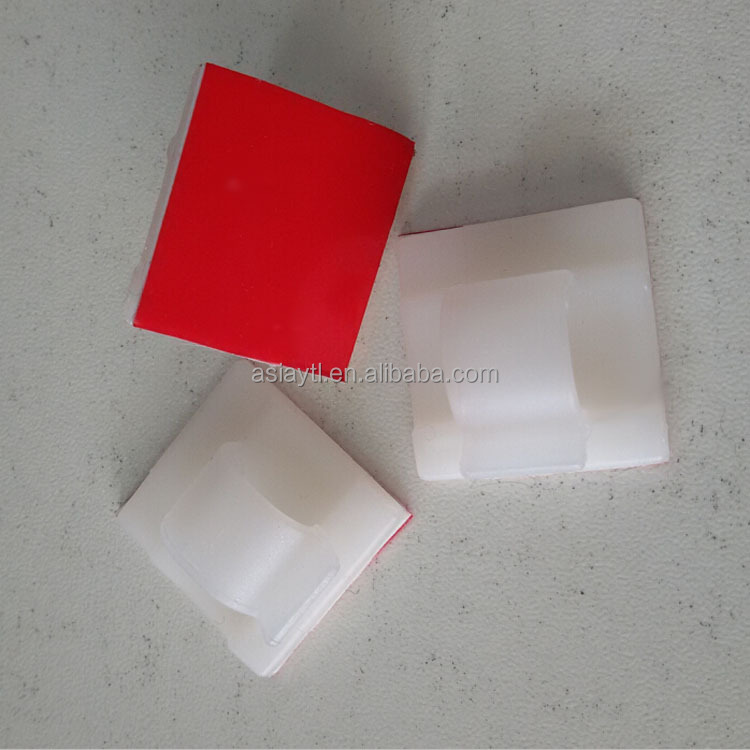 oem self adhesive white plastic electric wall wire holding cable clips