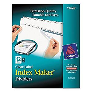 AVE11428 - Avery Index Maker Clear Label Divider by Avery