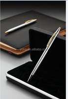 Promotional/Advertising Gold/Sivler Thin body metal ballpoint pen