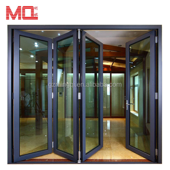 House and commercial project aluminum double glazing bi fold doors