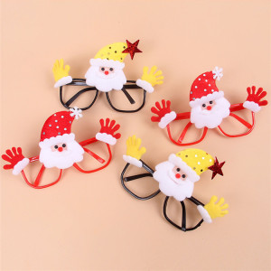 Wholesale promotion cheap decorative funny christmas sunglasses with no optical lenses