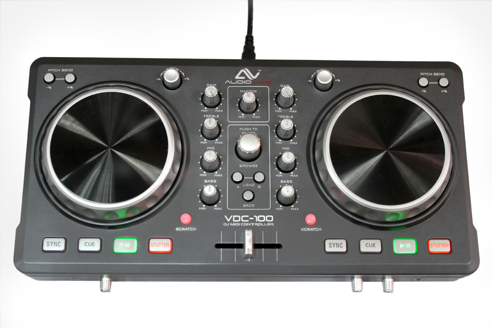 USB Audio Interface Portable USB DJ Controller dj mixer controller /dj controller / USB Midi Controller for Mac or PC