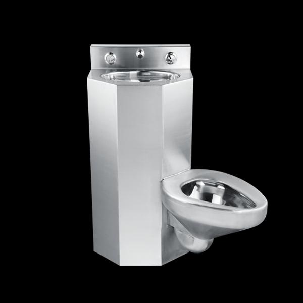 Entwässerung Von Waschbecken Und Wc: Chuangxing Edelstahl-wc Und Waschbecken Einheit