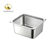 1/2 stainless steel gn pan American style deep gastronorm bain marie pan, electric deep frying pan