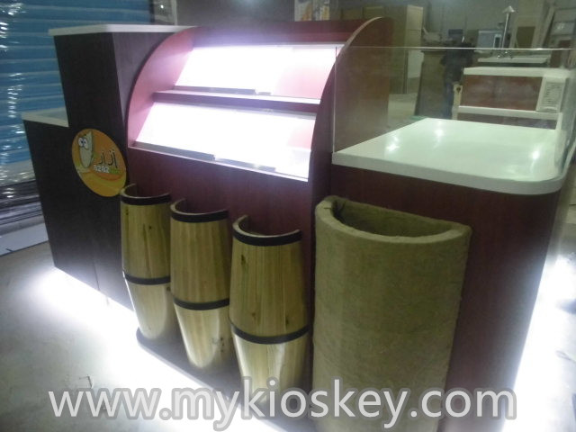 customized 3D design for dried fruit display kiosk nuts candy display booth