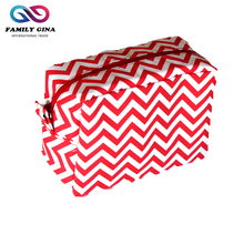 Wholesale Monogrammed Zipper Chevron Cosmetic Bag