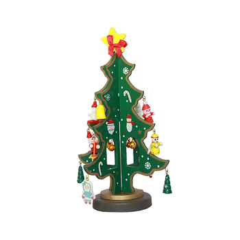 6c14e8889973 FQ brand hot Creative wood ornament artificial christmas gift mini diy toy  christmas tree