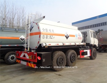 China military truck type DONGFENG 6x6 chemical liquid tanker truck off road all wheel drive tanker vehicle for sale