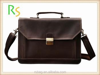 100 Genuine Leather Handbags Business Whole Crazy Horse Men S Handbag Online European