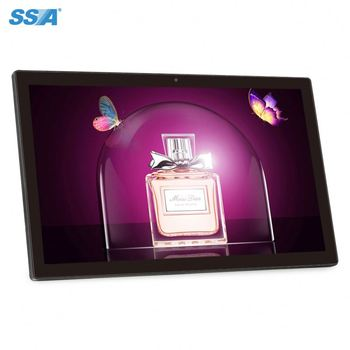 "oem/odm 21.5"" 22 inch floor stand android lcd digital signage/advertising display player with brochure holder"
