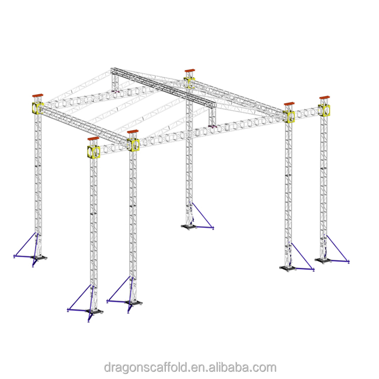 Aluminum truss with speaker lift truss aluminum for proformence in lower aluminum truss price