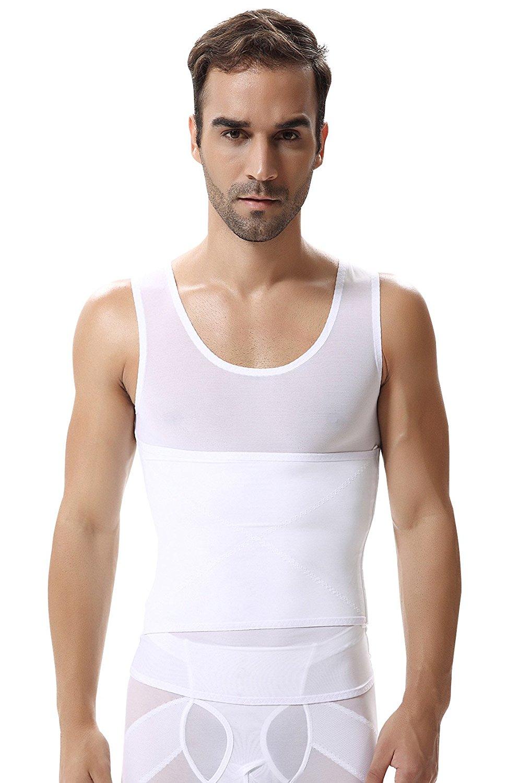 6698b766cb9 Get Quotations · Panegy Mens Body Shaper Slimming Shirts Stomach Tummy  Control Shapewear Shaping Tank