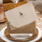 Wishmade Factory Wholesale Laser Cut Wedding Invitation Card English Bride Groom Invitation