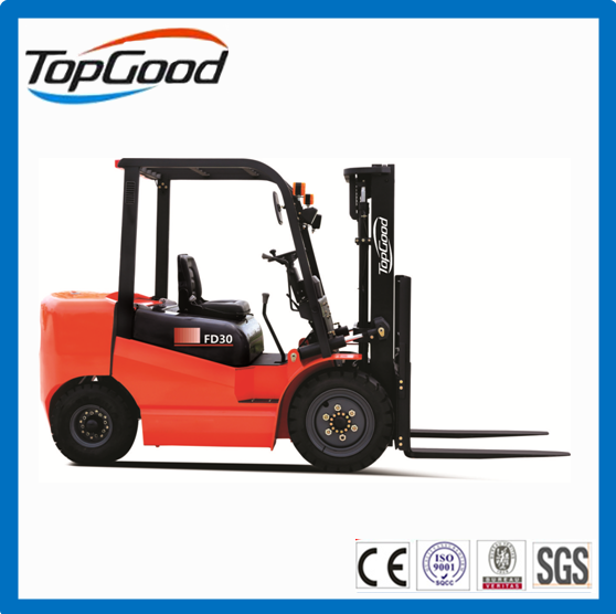 TOPGOOD 2 tons diesel forklift with Japan isuzu engine , hyundai forklift, manual forklift for sale