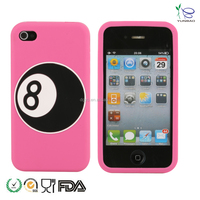snooker number eight designed silicone cases for cell phones