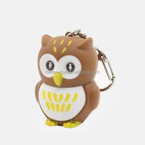 Character custom made animal shaped owl keychain
