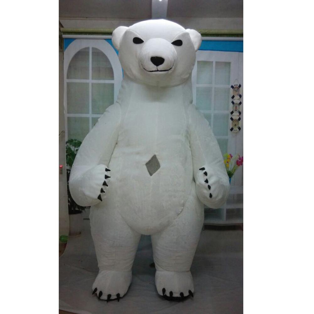 Disesuaikan Beruang Kutub Maskot Kostum Disesuaikan Iklan Hewan Beruang Kutub Mewah Kostum Buy Dewasa Polar Bear Costume Cosplay Beruang Kostum 3 M