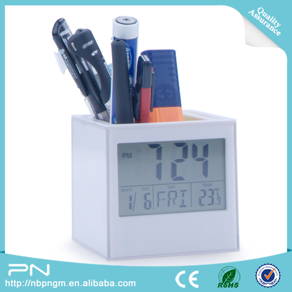 Matrix Pencli Holder Clock with Birthday Reminder Function