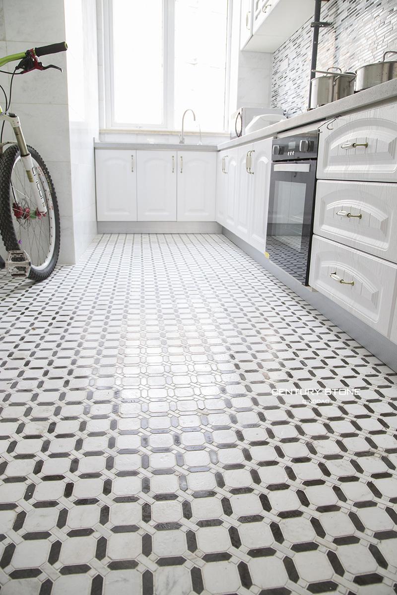 keuken tegels wit : Keuken Kamer Moza Eken Ontwerp Marmeren Tegels Gepolijst Zwart En
