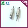 High Quality Audio Adaptor 3.5mm Stereo Electrical Plug to 6.35mm Jack Audio Connector