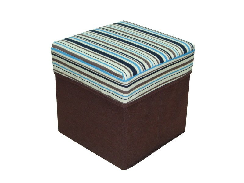 TC fabric with nonwoven+E1 MDF Foldable Storage ottoman stool
