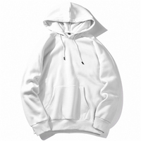 Custom logo plain white pullover sweatshirts oversized blank hoodies for men