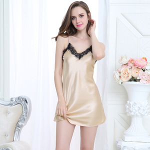8e176ee02bc nighties for women sexy nighty design dress ladies silk pajamas shorts  China wholesale satin dressing gown