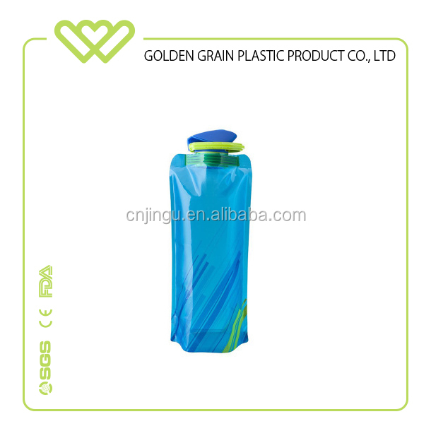 easy take plastic sports folding water bottle on sale