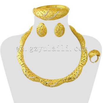 Good Quality Gold Jewelry Set Wholesale Simple Design Unique