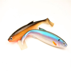 popular shads soft plastic body swim baits fishing lures with swimming paddle
