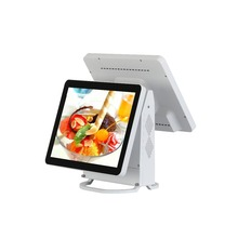 China cheap dual screen pos system all in one touch screen cash register