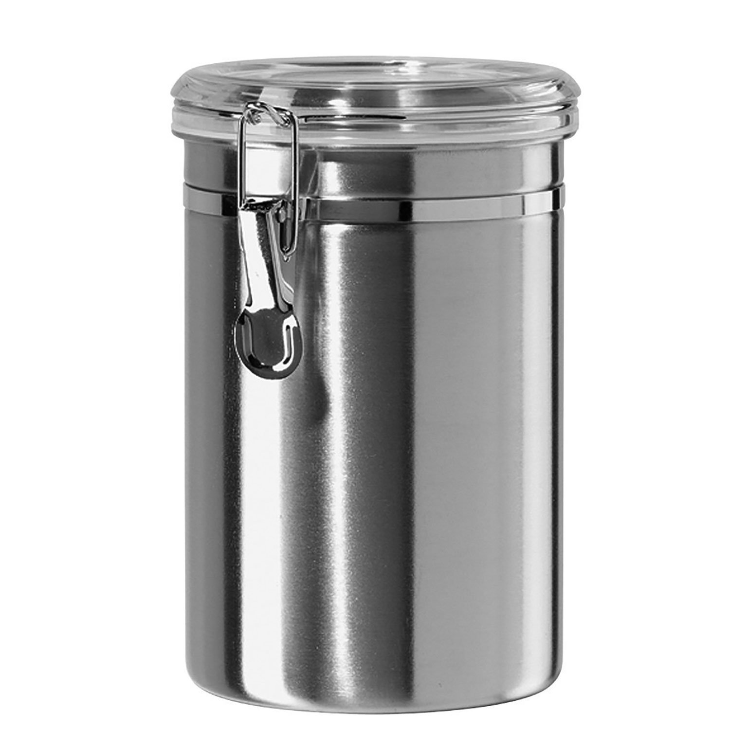 Canister Set Stainless Steel - Beautiful Canisters for Kitchen Counter, 64oz Medium, with Airtight Lids, Food Storage Container, Tea Coffee Sugar Flour Canisters by SilverOnyx - Medium 64oz - 1 Piece