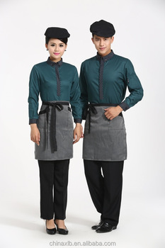 custom hotel staff uniform restaurant waiter waitress uniform