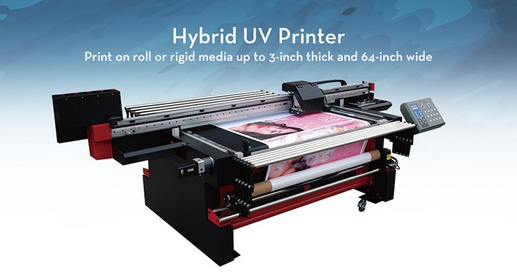 1.6m Roll to Roll and flatbed high resolution multicolor uv inkjet printer
