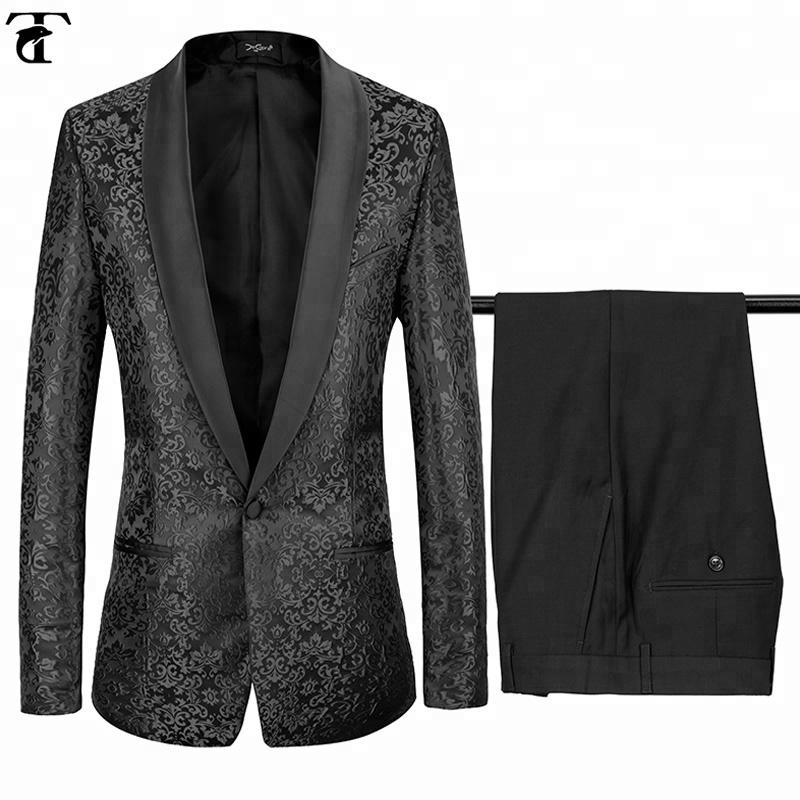 Italian Luxury Mens Black Suits Jacket Pants Formal Dress Men Wedding Suits Groom Tuxedos фото
