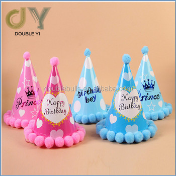 Customized Wholesale Children And Adults Lovely Doceration Birthday Party Bulb Hat