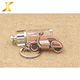 Fashion motorcycle keychains cheap double side zinc alloy keychain