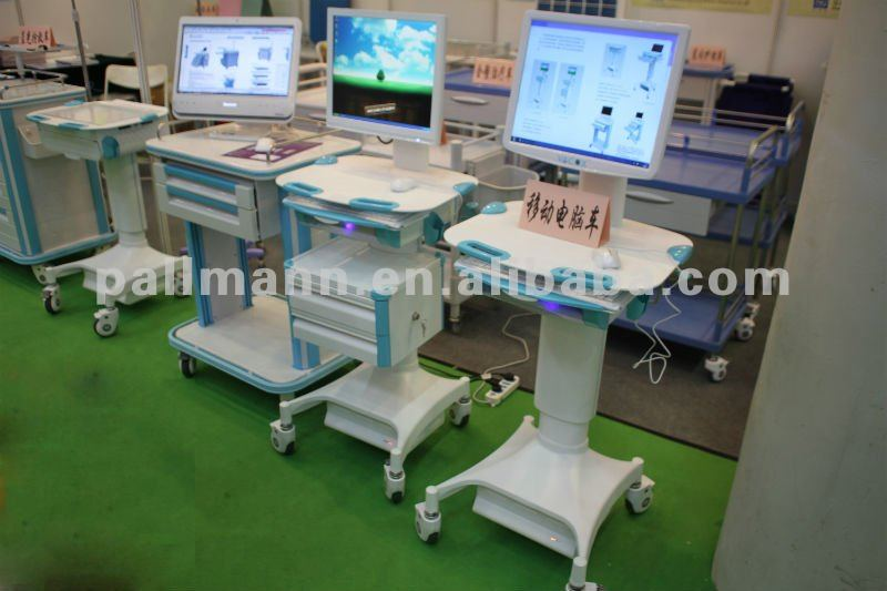 PALLMANNMED HOSPITAL COMPUTER TROLLEY