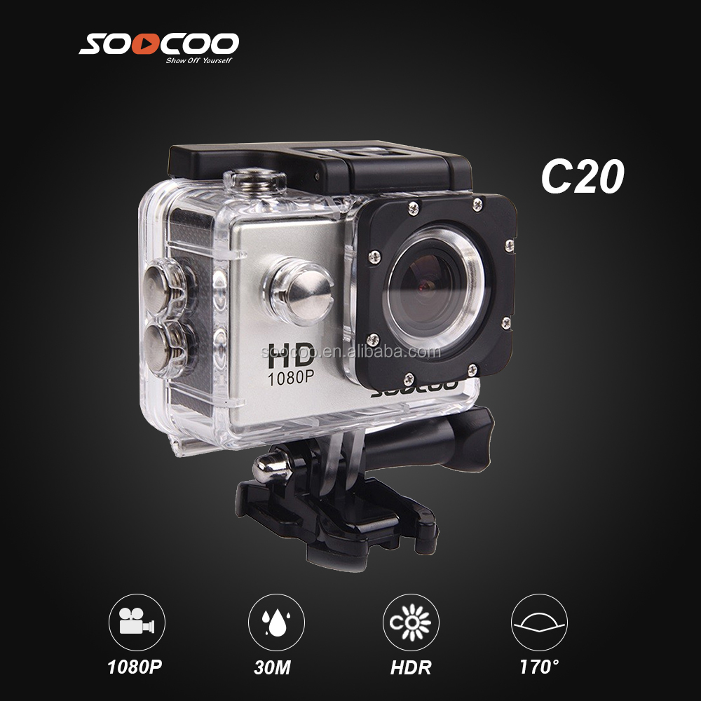 SOOCOO C20 Waterproof 2.0 Inch HD LCD Screen Sports Action Video Camera 1080P Full-HD