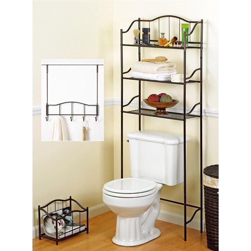 Generic LQ..8..LQ..2610..LQ Bronze 3 pcs Bronze Metal ath Set Set Bathroom St Storage Rack Organizer e Rack Complete Bath Space Save Space Saver US6-LQ-16Apr15-1307
